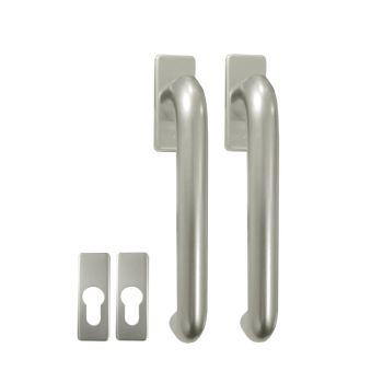 Hoppe Tilt & Slide Patio Door Handle with Escutcheon Plates