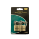 Sterling 2 x 30mm Double Locking Brass Padlock BPL432