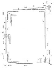 Siegenia Tilt & Turn Spare Part - White Hinge Component Bag
