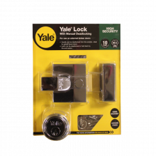 Yale Nightlatch With Manual Deadlocking P85 Chrome 40mm Backset