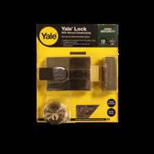 Yale Nightlatch With Manual Deadlocking P89 Brass 60mm Backset